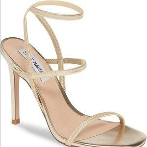 Steve Madden Nectur Sandal Heel - Size 8 Gold